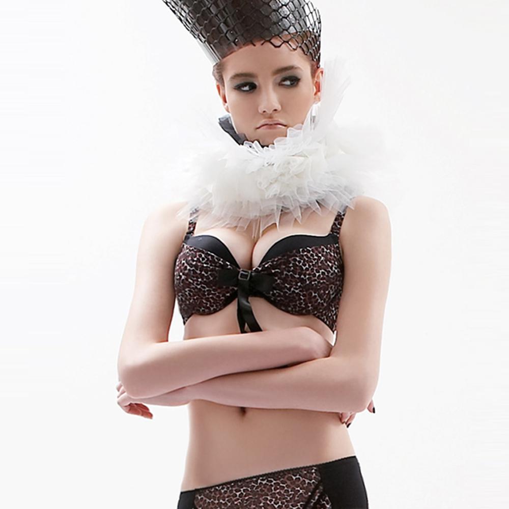 瑪登瑪朵  魔豹拉溝II  B-E罩杯內衣(咖啡豹)