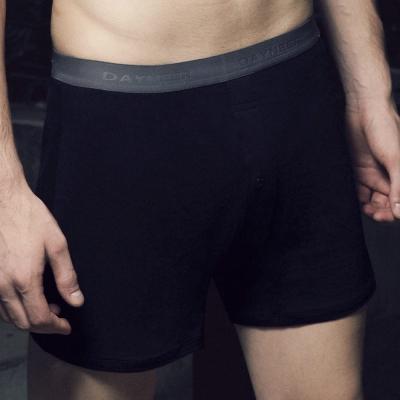 DAYNEER-寬鬆舒活系列-素面寬鬆四角褲(黑)