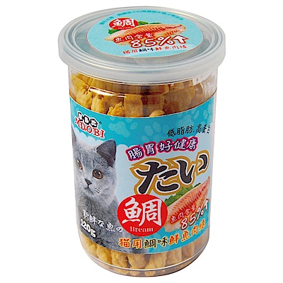 MDOBI摩多比-貓用 鮮魚肉條 鯛魚口味-2罐組