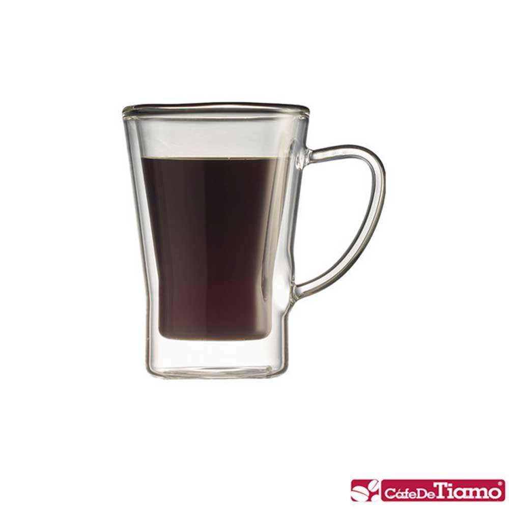 Tiamo DC-XL-1603 雙層玻璃杯(有柄) 170cc / 2入(HG2053)