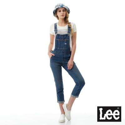 Lee 牛仔吊帶長褲-女款-藍