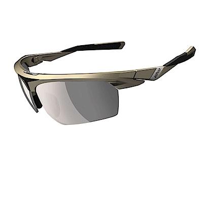 【ADHOC】運動太陽眼鏡-偏光變色灰片-半框式 BLADE