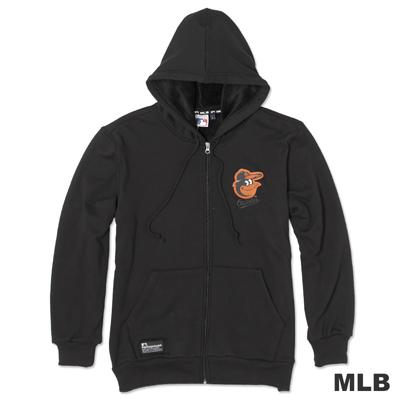 MLB-巴爾的摩金鶯隊連帽運動厚外套-黑(男)