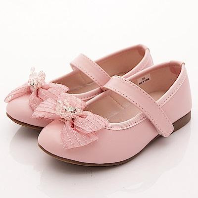 日本娃娃 蕾絲亮鑽公主鞋款 6940粉(中小童段)