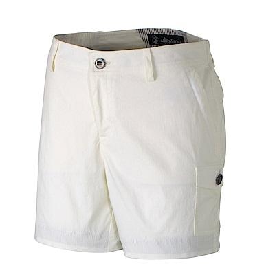 【Wildland 荒野】女彈性抗UV短褲-白