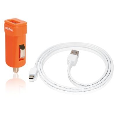 VogDUO沃都【PK115】迷你型USB車用充電組(扁平型)