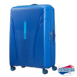 AT美國旅行者 31吋Skytracer飛機輪硬殼嵌合式TSA行李箱(亮藍)