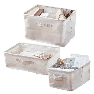 [自然樂居] 森/棉麻收納盒大中小三入組