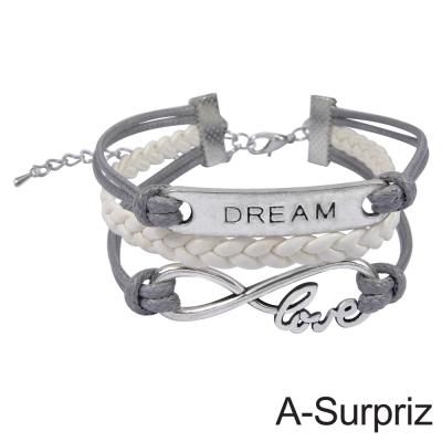 A-Surpriz-DREAM皮繩多層造型手鍊