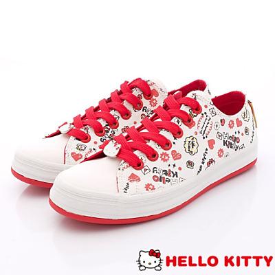 Hello Kitty-凱蒂彩繪休閒款-NI14106白(女段)