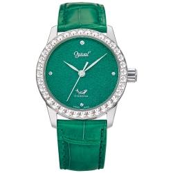 Ogival 瑞士愛其華 琺瑯自動機械錶-綠/37mm