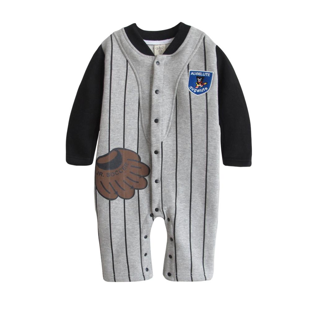 baby童衣 棒球手套假2件式前開連身衣爬服 37012 product image 1