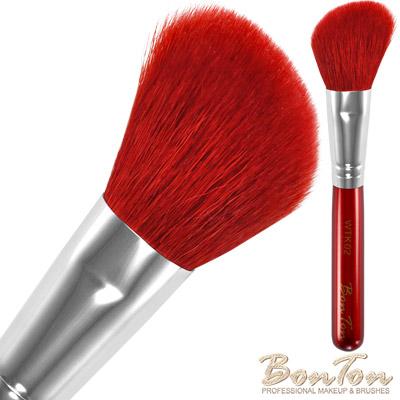 BonTon 湛紅短柄 斜修容/腮紅刷 WTK02 特級尖峰紅羊毛