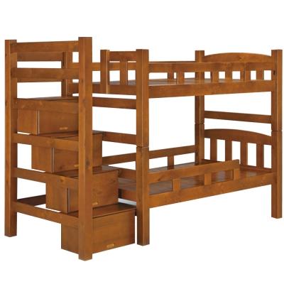 品家居 薩琳3.5尺實木單人雙層床架(不含床墊)