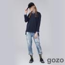 gozo 網路獨家-文藝時代線條拼接上衣 (二色)-動態show