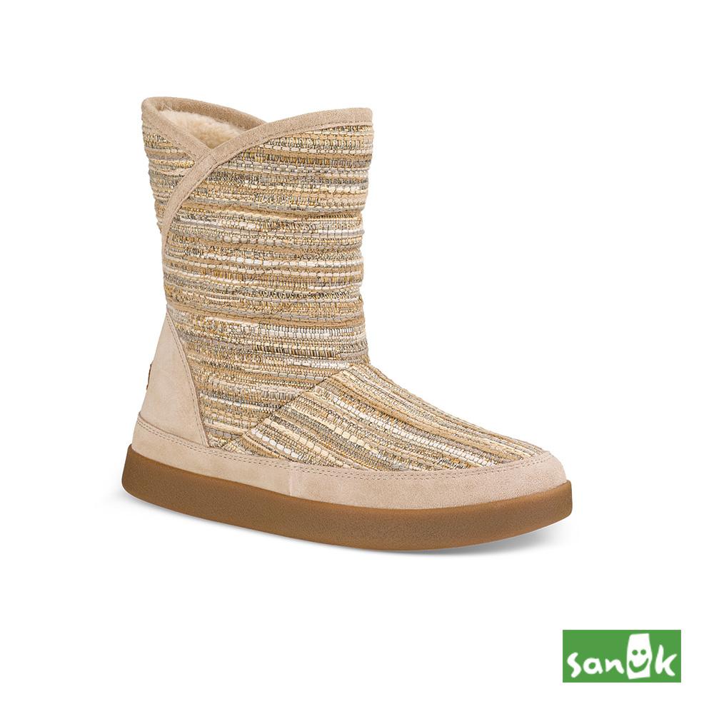 SANUK Valdese Weavers設計編織中筒靴-女款(米色)