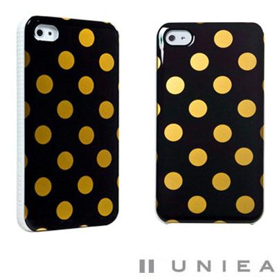 UNIEA Dots 點點系列 iPhone 4/4S 抗刮保護殼(限量黑金版)