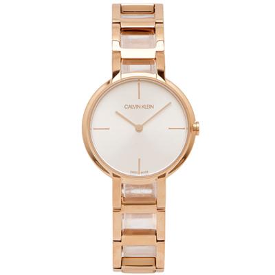 CK Calvin Klein 造型魅力風女性手錶(K8N23646)-銀面/32mm