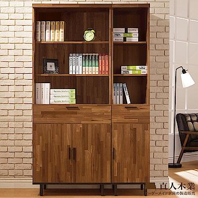 日本直人木業傢俱-工業生活120CM書櫃-(120x40x197cm)免組