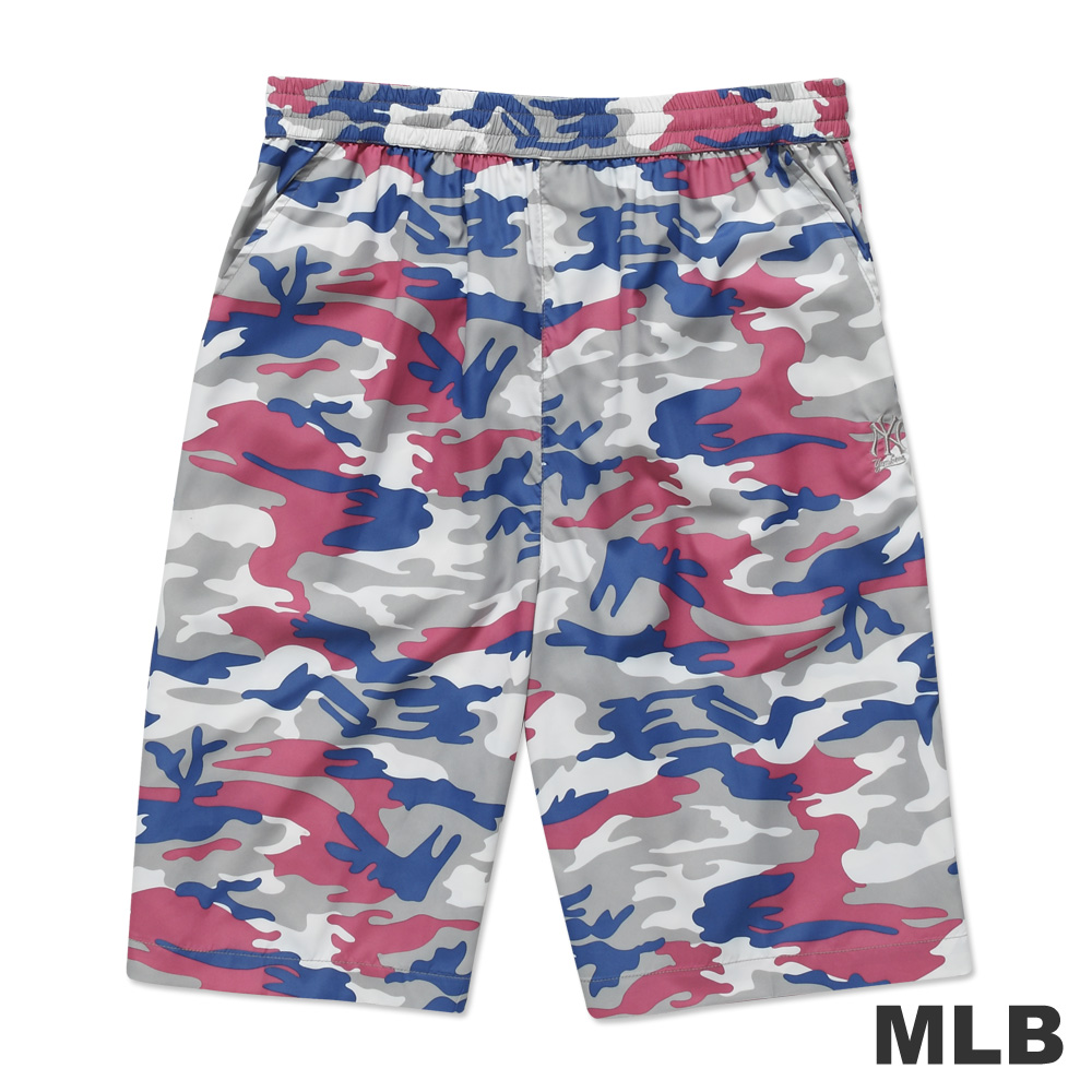 MLB-紐約洋基隊風衣布迷彩海灘褲-粉紅(男)