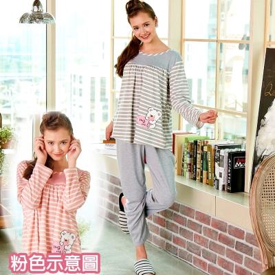 睡衣 精梳棉柔針織 長袖兩件式睡衣(67206)粉色 蕾妮塔塔