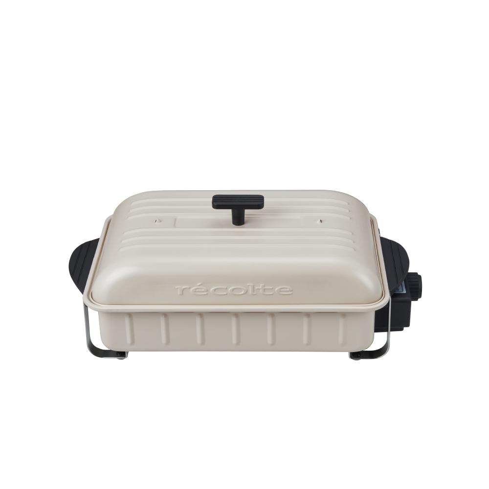 recolte日本麗克特 Home BBQ 電燒烤盤RBQ-1(限定款)-牡蠣白