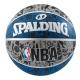SPALDING 斯伯丁 NBA 塗鴉系列 籃球7號 灰/藍/黑 product thumbnail 1