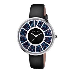 ELIXA Finesse簡約晶鑽錶面幾何刻度系列 星辰藍40mm