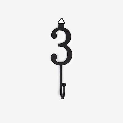 Dailylike 數字造型壁面衣帽掛鉤(單入)-3
