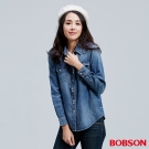 BOBSON    女款彩釦牛仔襯衫