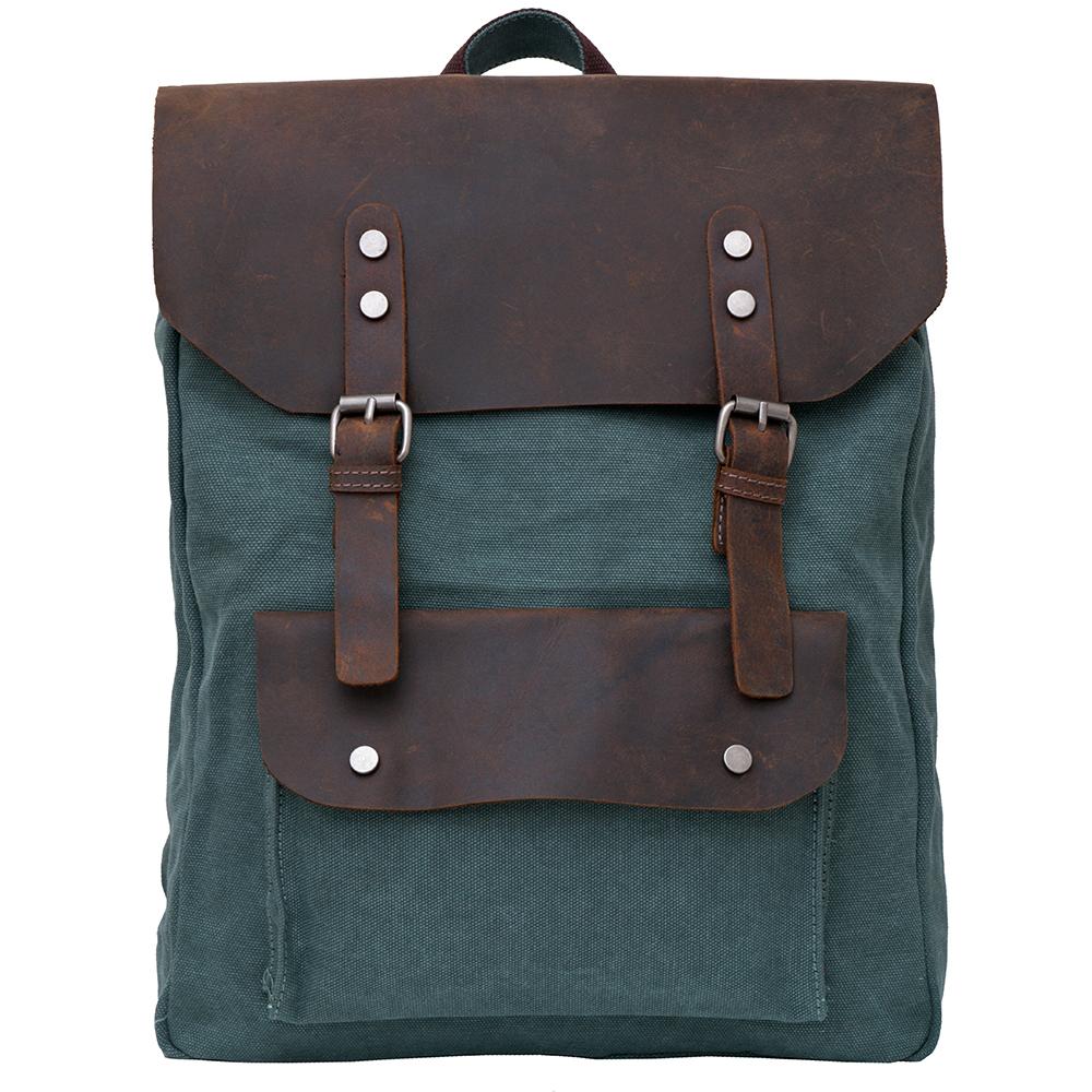 【Vensers】韓潮頂級棉麻包系列~後背包(C687602綠色)