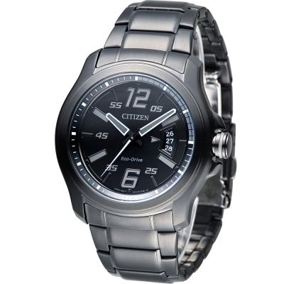 CITIZEN 光動能霧黑時尚腕錶(AW1354-58E)-黑/43mm
