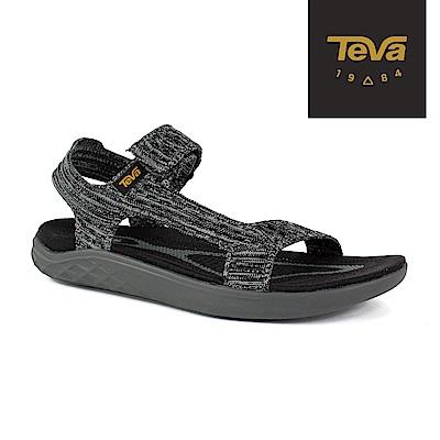【TEVA】原廠貨 女 Terra-Float 2 Knit 輕量運動涼鞋/雨鞋/水鞋(黑灰-TV1091593BKGY)