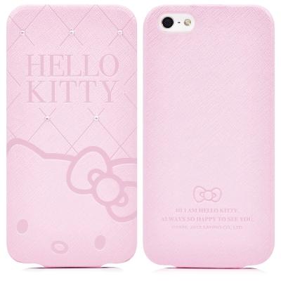GARMMA-Hello-Kitty-iPhone5-5S-SE下掀式摺疊皮套-典藏粉
