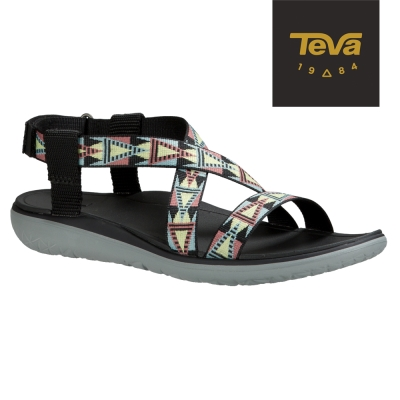 TEVA 美國-女 Terra Float Livia 休閒涼鞋 (馬賽克黑)