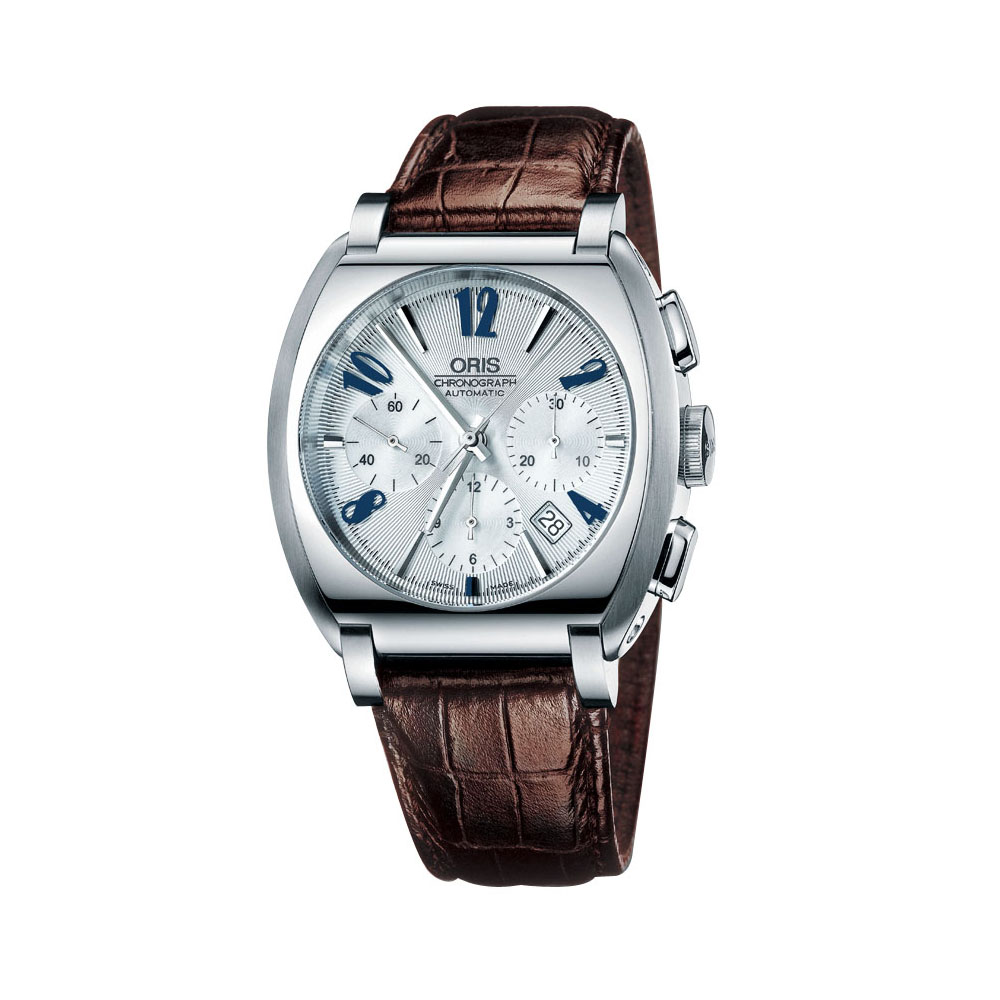 ORIS 法蘭克辛納屈系列三環皮帶腕錶(咖啡)