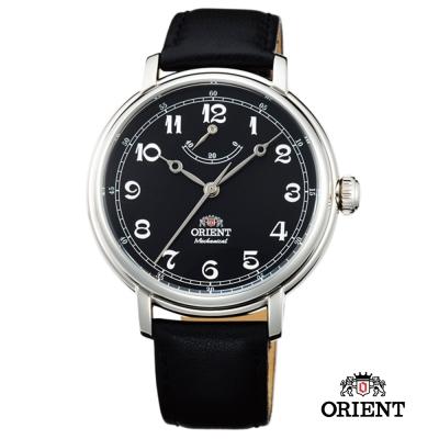 ORIENT 東方錶 動力儲存系列 復古手動上鍊機械錶-黑/40mm