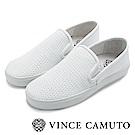 Vince Camuto 黑白極簡率性平底懶人鞋-白色