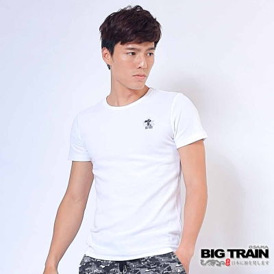 BIG TRAIN 抽針提花T恤1件包-男-白色