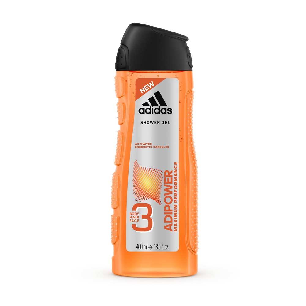 adidas愛迪達 男用三效極限動力潔顏洗髮沐浴露400ml