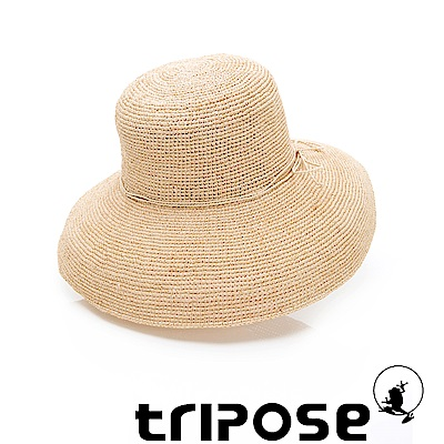tripose 經典優雅-100%手工Raffia時尚遮陽草帽-帽簷-12cm(自然色)