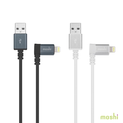 Moshi Lightning to USB 90°彎頭傳輸線
