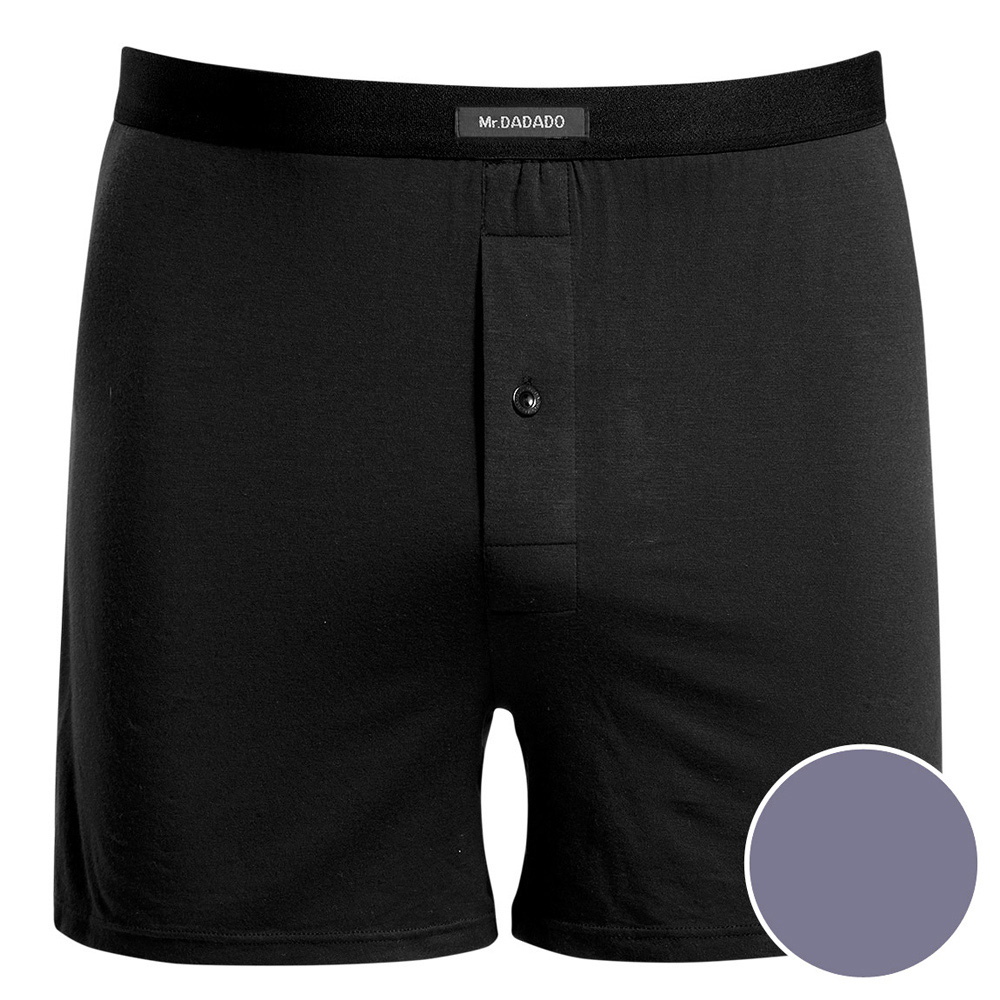 DADADO 基礎系列Modal纖維 M-LL長版四角褲(舒適灰)