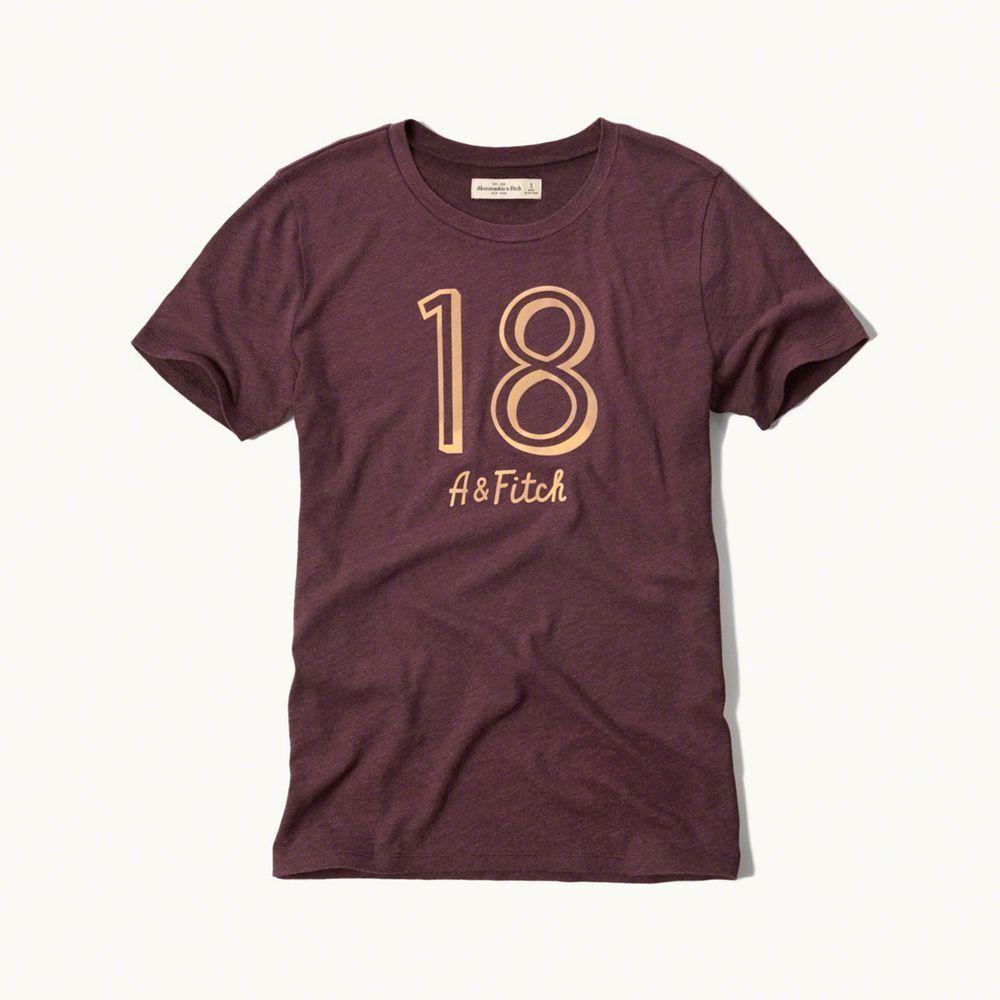 AF a&f Abercrombie & Fitch 女T恤 紅色 0018