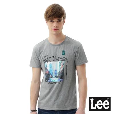 Lee 街頭圖片印刷短袖T恤 男 深麻灰色
