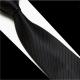 拉福 黑色斜紋領帶6cm中窄版領帶拉鍊領帶 (黑) product thumbnail 1