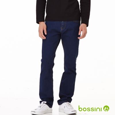 bossini男裝-修身牛仔褲01靛藍