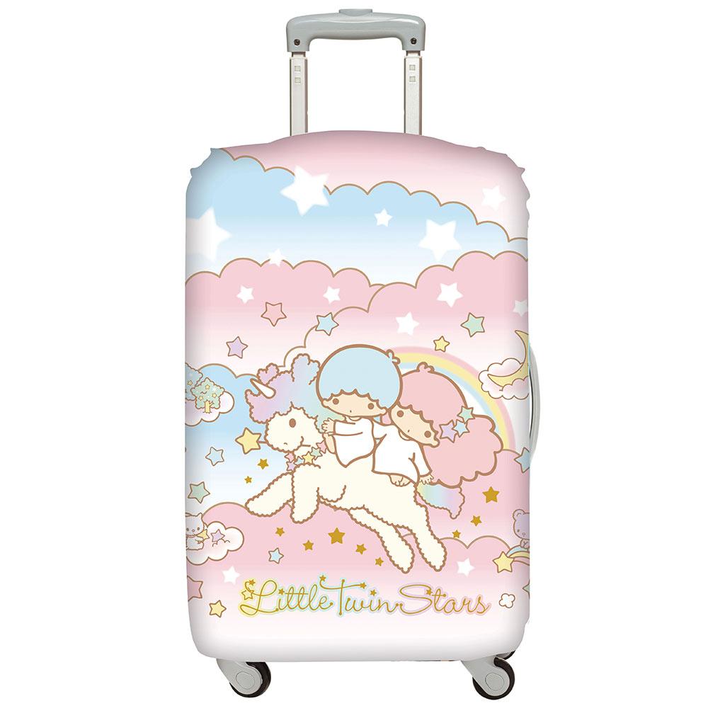 LOQI行李箱套 雙星仙子 獨角獸M號 適用22-27吋行李箱保護套