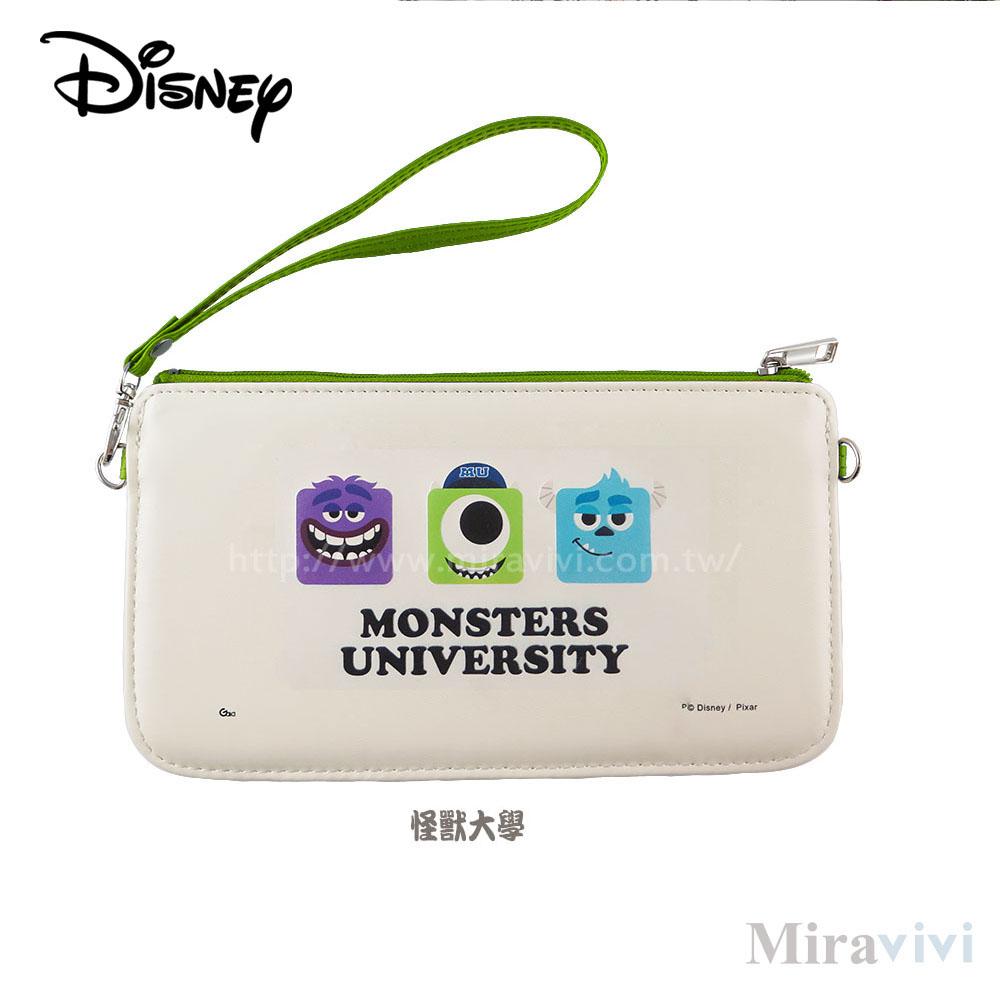 Disney迪士尼皮質橫式手機袋/萬用包/手腕袋_方塊系列_怪獸大學