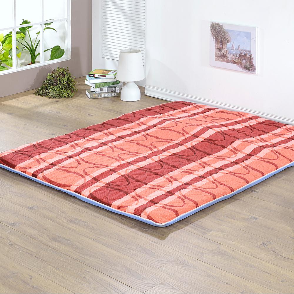 戀香 大圈折疊床墊-雙人(暖紅)